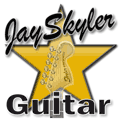 Logo for Guitar Lessons with Jay Skyler, Gold Star Version http://www.jayskyler.com